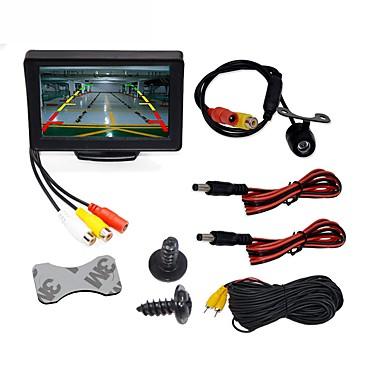 BYNCG WG4.3T-4LED 4.3 in TFT-LCD 480TVL 480p 1/4 cala color CMOS Przewodowa 120 stopni 1 pcs 120 ° 4.3 in Tylna kamera / Monitor cofania samochodu / Zestaw z tylną kamerą Wodoodporny / Wskaźnik LED