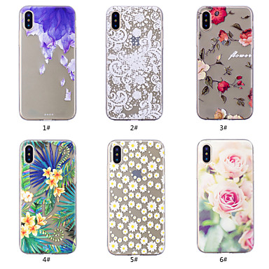 Pouzdro Uyumluluk Apple iPhone XS / iPhone XS Max Temalı Arka Kapak Çiçek Yumuşak TPU için iPhone XS / iPhone XR / iPhone XS Max