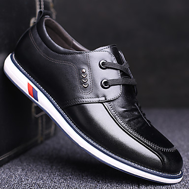 Homme Chaussures Formal Cuir Printemps Décontracté Oxfords Waterproof Waterproof Waterproof Noir / Marron   Outlet Online Store  62b274