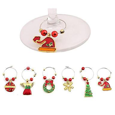voordelige Feestbenodigdheden-Hangers Metaallegering 6pcs Kerstmis
