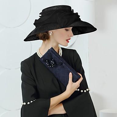 abordables Coiffes-Lin Kentucky Derby Hat / Chapeaux avec Noeud 1pc Mariage / Fête / Soirée Casque