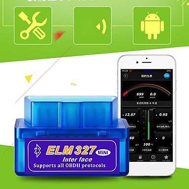 16-pinowy super mini wiąz 327 bluetooth obd2 v2.1 aplikacja diagnostyczna samochodu narzędzie dla ios iso; 14230-4 (kwp2000), iso9141-2, iso15765-4 (can bus)