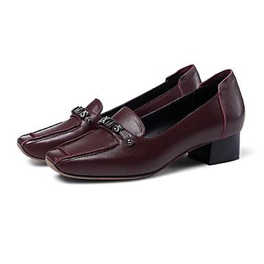 Femme Chaussures Chaussures Chaussures de confort Cuir Nappa Automne Mocassins et Chaussons+D6148 Talon Bas Bout pointu Noir / Preto e Prateado / Vin   France  b48139