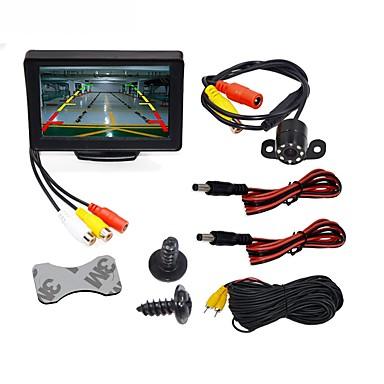 BYNCG WG4.3T-4LED 4.3 pollice TFT-LCD 480 TVL 480p CMOS a colori da 1/4 di pollice Con filo 120 Gradi 1 pcs 120 ° 4.3 pollice Telecamera posteriore / Monitor retromarcia auto / Kit di retrovisione