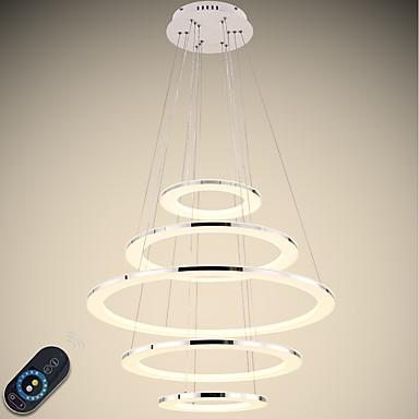 VALLKIN 5-Light Cirkularno Lusteri Ambient Light Electroplated Slikano završi Metal Acrylic Prilagodljiv, Zatamnjen 110-120V / 220-240V Zatamnjen daljinskim upravljačem