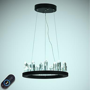 VALLKIN Cirkularno Lusteri Ambient Light Slikano završi Metal Crystal, Prilagodljiv 110-120V / 220-240V Zatamnjen daljinskim upravljačem