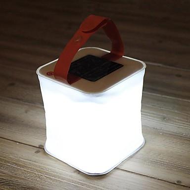 billige Lommelykter & campinglykter-LuminAID Lanterner & Telt Lamper LED emittere Vanntett Foldbar Soldrevet Camping / Vandring / Grotte Udforskning Hvit