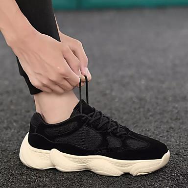 Homme Chaussures de confort Maille / Polyuréthane Automne Sportif Chaussures Chaussures Chaussures d'Athlétisme Course à Pied Ne glisse pas Noir / Beige / Noir / Jaune | Techniques Modernes  754434