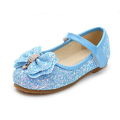 Boys' / Girls' Shoes PU(Polyurethane) Spring &  Fall Flower Girl Shoes Flats Rhinestone / Bowknot for Kids / Toddler Fuchsia / Blue / Pink / Polyester Rubber