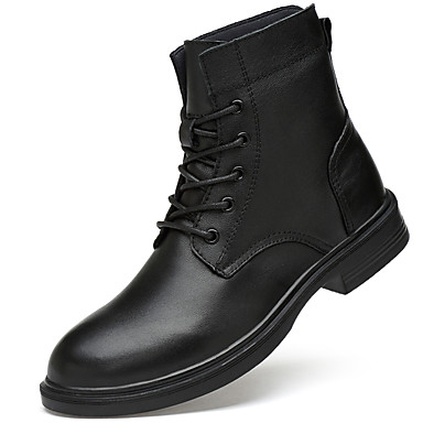 7fa448f86 Men's Fashion Boots Nappa Leather Winter Casual / British Boots Warm Mid-Calf  Boots Black / Party & Evening / Party & Evening / Combat Boots #06989502