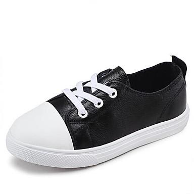 Acquista A Buon Mercato Da Ragazzo Scarpe Similpelle Primavera & Autunno Comoda Sneakers Lacci Per Bambino - Per Ragazzi Bianco - Nero #06962640 Squisito Artigianato;