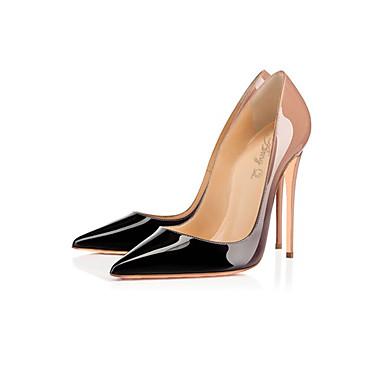 ราคาถูก รองเท้าส้นสูงผู้หญิง-สำหรับผู้หญิง หนังสิทธิบัตร ฤดูใบไม้ผลิ / ฤดูร้อน ปั๊มพื้นฐาน ส้น Stiletto สีชมพู / งานแต่งงาน / พรรคและเย็น / พรรคและเย็น