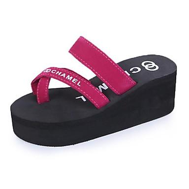 Compiacente Per Donna Scarpe Comfort Scamosciato Primavera Sandali Piatto Nero - Rosso #06990735 Bello A Colori