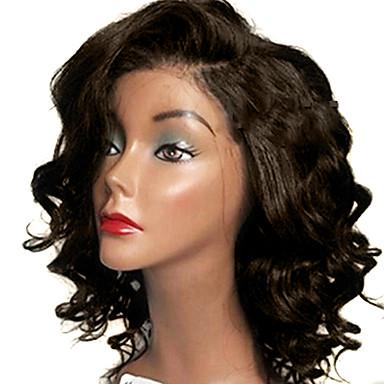 povoljno Perike i ekstenzije-Virgin kosa Netretirana  ljudske kose Perika s prednjom čipkom bez ljepila Lace Front Perika Slobodni dio stil Brazilska kosa Wavy Perika 130% 150% 180% Gustoća kose s dječjom kosom Afro-američka