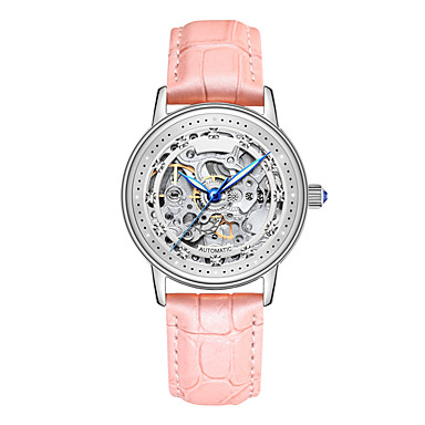 90ec6994a رخيصةأون ساعات ميكانيكية-Angela Bos نسائي ساعة الهيكل ساعة المعصم داخل  الساعة أتوماتيك ستانلس ستيل