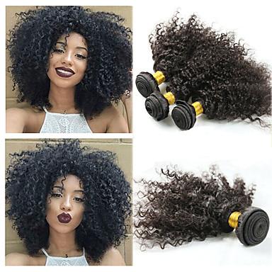 baratos Extensões de Cabelo Natural-3 pacotes Cabelo Malaio Afro Kinky Kinky Curly 10A Cabelo Natural Remy Extensões de Cabelo Natural 8-26 polegada Natural Tramas de cabelo humano Melhor qualidade Nova chegada Venda imperdível