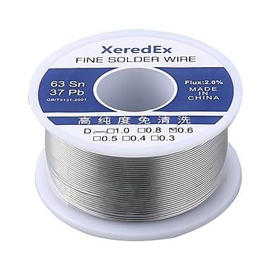 baratos Ferro de Soldagem e Acessórios-Xeredex 1.0mm 2% fluxo de resina de estanho chumbo rolo de núcleo de solda de fio de solda de solda ferramenta de reparo carretel kit de fundição 63% sn 50g