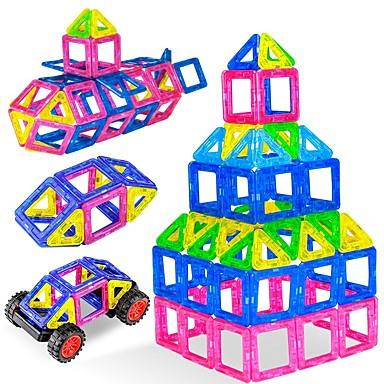 abordables Blocs Magnétiques-Blocs Magnétiques Carreaux magnétiques 38 pcs Interaction parent-enfant Tous Garçon Fille Jouet Cadeau