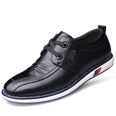 Homme Chaussures Formal Cuir Printemps Décontracté Oxfords Waterproof Waterproof Waterproof Noir / Marron | Outlet Online Store