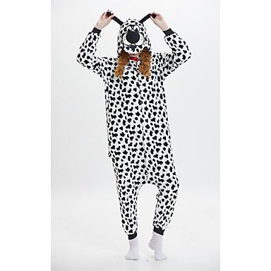 Déguisement Combinaison Adulte Animé Chien fibre de polyester Pyjamas Kigurumi pour Homme et Femme Noir blanc Noël Halloween Carnaval Animal Cosplay Costumes