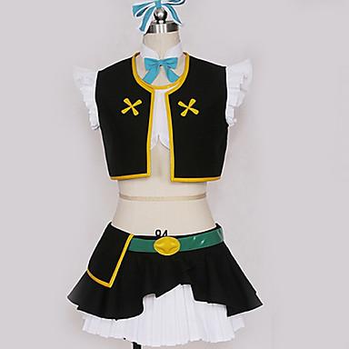 Inspirirana Ljubav uživo Cosplay Anime Cosplay nošnje Japanski Cosplay Suits Jednobojni Top / Suknja / Rukavice Za Muškarci / Žene