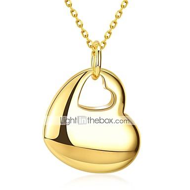 Žene Ogrlice s privjeskom Srce dame slatko Moda Kamen Pozlaćeni Zlato 50 cm Ogrlice Jewelry 1pc Za Dnevno Rad