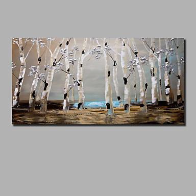 Hang oslikana uljanim bojama Ručno oslikana - Sažetak Pejzaž Comtemporary Moderna Uključi Unutarnji okvir / Valjani platno / Prošireni platno