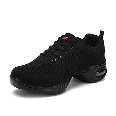 Delizioso Per Donna Sneakers Da Danza Moderna Retato - Tessuto Elastico Sneaker Tacco Spesso Personalizzabile Scarpe Da Ballo Bianco - Nero - Rosso #07017166