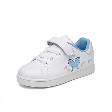Abile Da Ragazza Scarpe Pelle - Pu (poliuretano) Primavera & Autunno Comoda Sneakers Nastro A Strappo Per Bambino White - Blue #06999693