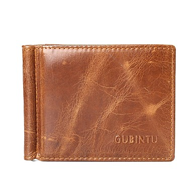 47c9552e4765 Men's Wallet Cowhide Solid Color Coffee / Fall & Winter