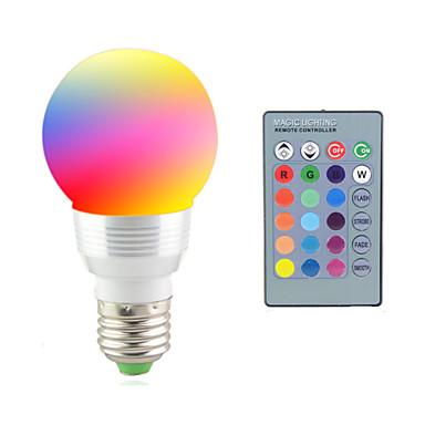 billige Elpærer-2 W LED-scenelys 2700-7000 lm E14 E26 / E27 1 LED perler Høyeffekts-LED Fjernstyrt Dekorativ RGB 85-265 V / 1 stk. / RoHs / CCC