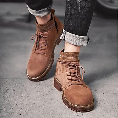 Homme Chaussures de de de confort Daim Hiver Décontracté Bottes Garder au chaud Noir / Marron / Kaki | Service Supremacy  022056