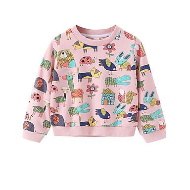 6cdce9906ec Μωρό Κοριτσίστικα Ενεργό Καθημερινά Στάμπα Μακρυμάνικο Κανονικό Μπλούζα με  Κουκούλα & Φούτερ Ανθισμένο Ροζ / Νήπιο