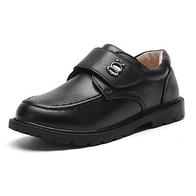 baratos Sapatos de Criança-Para Meninos Pele Rasos Criança (9m-4ys) / Little Kids (4-7 anos) / Big Kids (7 anos +) Conforto Velcro Preto Outono & inverno