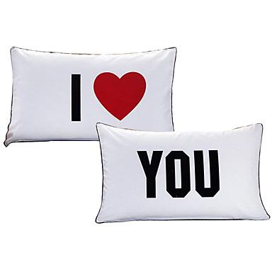 Tyynyliina - Polyesteri Printed Romantiikka 2kpl tyynyliinoja