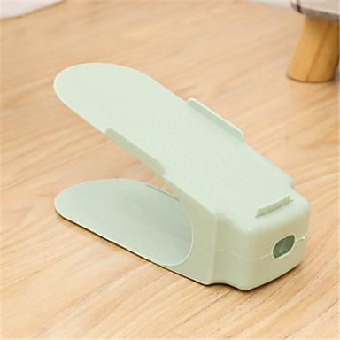 abordables Accessoires pour Chaussures-Cintre & Range Chaussures Plastique dur 1 paire Unisexe Bleu / Vert / Rose Claire