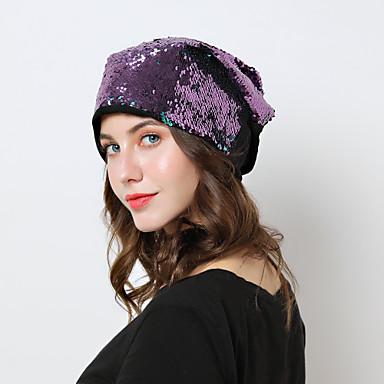 abordables Coiffes-Coton Chapeaux avec Paillettes / Bonnet 1 Pièce Usage quotidien Casque