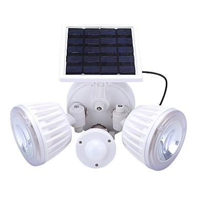 billige Utendørsbelysning-1pc 4.5 W / 2 W Led Street Light / Solar Wall Light Solar / Infrarød sensor / Dekorativ Hvit 3.7 V Utendørsbelysning / Courtyard / Have 2 LED perler