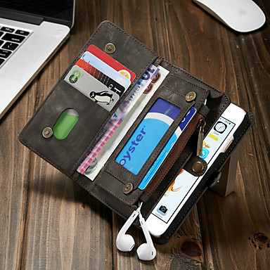 ケース 用途 Apple iPhone 6s / iPhone 6 ウォレット / カードホルダー / 耐衝撃 フルボディーケース ソリッド ハード PUレザー
