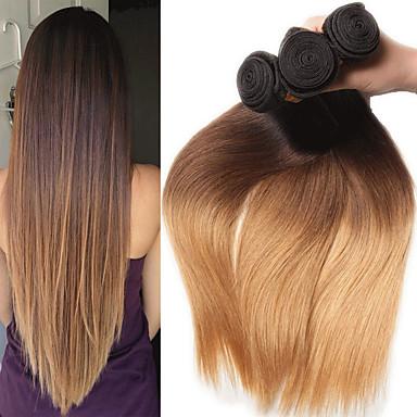 povoljno Bojane ekstenzije-3 paketa Indijska kosa Ravan kroj 10A Remy kosa Ekstenzije od ljudske kose 8-26 inch Isprepliće ljudske kose Nježno Najbolja kvaliteta Novi Dolazak Proširenja ljudske kose Žene