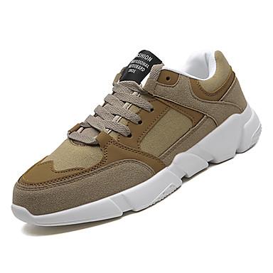 Muškarci Udobne cipele PU Zima Sportski Atletičarke tenisice Trčanje Non-klizanje Sive boje / Žutomrk