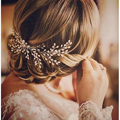 Slitina Vlasy Hřebeny s Umělé perly Jeden díl Svatební / Zvláštní příležitosti Přílba