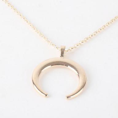 Žene Ogrlice s privjeskom Klasičan MOON dame Stilski Jednostavan Glina Pozlaćeni Legura Zlato Pink 52 cm Ogrlice Jewelry 1pc Za Dar Dnevno