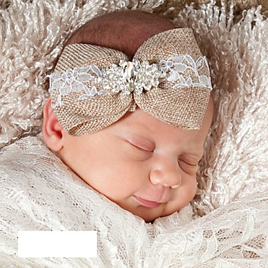 cheap Kids' Accessories-Toddler / Infant Unisex Daily Solid Colored Hair Accessories Brown One-Size