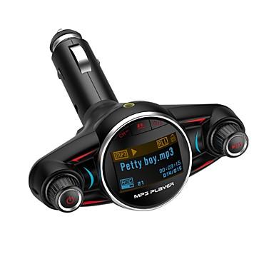 Nadajnik fm bezprzewodowy ziqiao bluetooth 4.0 zestaw samochodowy zestaw głośnomówiący bluetooth odtwarzacz mp3 dysk 1.3 cal wyświetlacz lcd ekran 2.1a podwójny adapter ładowarka usb