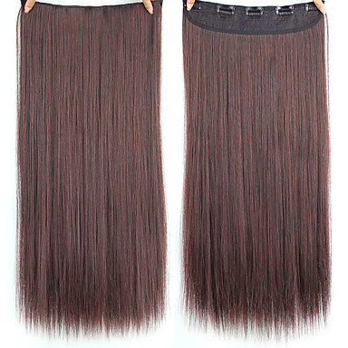 povoljno Perike i ekstenzije-Sintetski ekstenzije Ravan kroj Sintentička kosa 22 inča Ugradnja umetaka Isječak U / S 1 komad sintetički proširenje Žene Dnevni Nosite