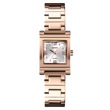 b854b2dfcf0 SKMEI Mulheres Relógio Elegante Relógio de Pulso Quartzo Aço Inoxidável  Prata   Dourada   Ouro Rose 30 m Impermeável Relógio Casual Legal Analógico  senhoras ...