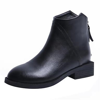 Per donna Di pelle Inverno Casual Stivaletti Piatto Nero | Outlet Store  | 2019 Nuovo  | Raccomandazione popolare  | Uomo/Donna Scarpa
