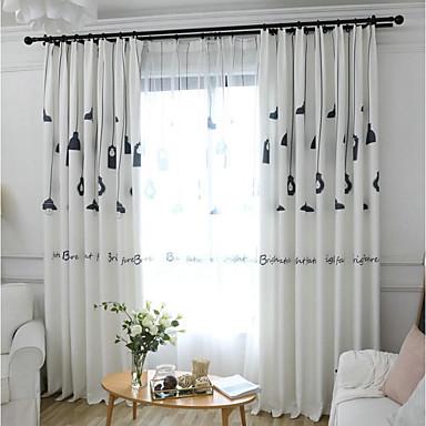 Mediterranean Curtains Drapes Two Panels Curtain / Kids Room 7003592 2019 U2013  $57.19