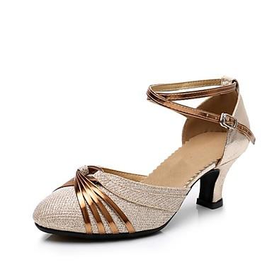 Ben Informato Per Donna Scarpe Per Danza Moderna Sintetico Tacchi Paillettes Tacco Cubano Personalizzabile Scarpe Da Ballo Oro - Argento #07059094